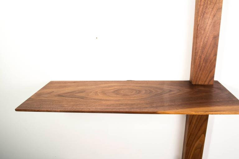 Minimalist Elemen Shelves II : american walnut , handmade original design made to order For Sale