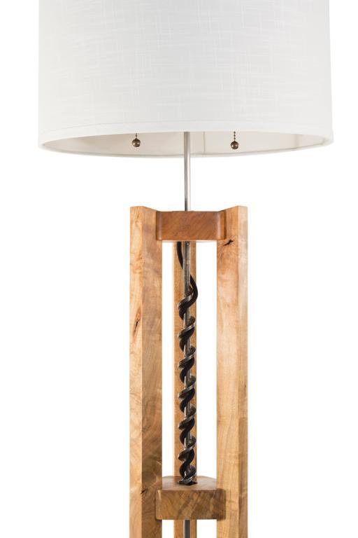 Bits Floor Lamp : ambrosia maple, antique drill bit, handmade to ...