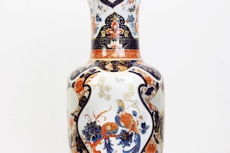 Late 20th Century Pair of Huge Yokohama Porcelain Vases Design Füllman, AK Kaiser, Germany, 1970s