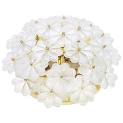 Pair of Stunning Murano Glass Flower Wall Light by Ernst Palme, Germany, 1970s