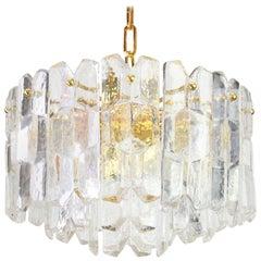 Stunning Gilt Brass, Crystal Glass Light Fixture Palazzo, Kalmar, Austria, 1970