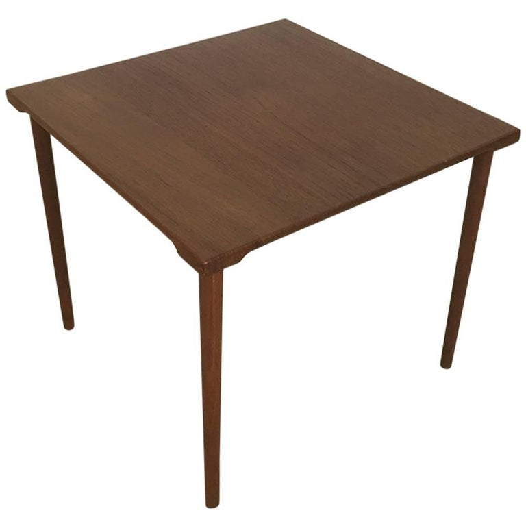 1960s Teak Side Table by Peter Hvidt & Orla Molgaard for France & Son Daverkosen