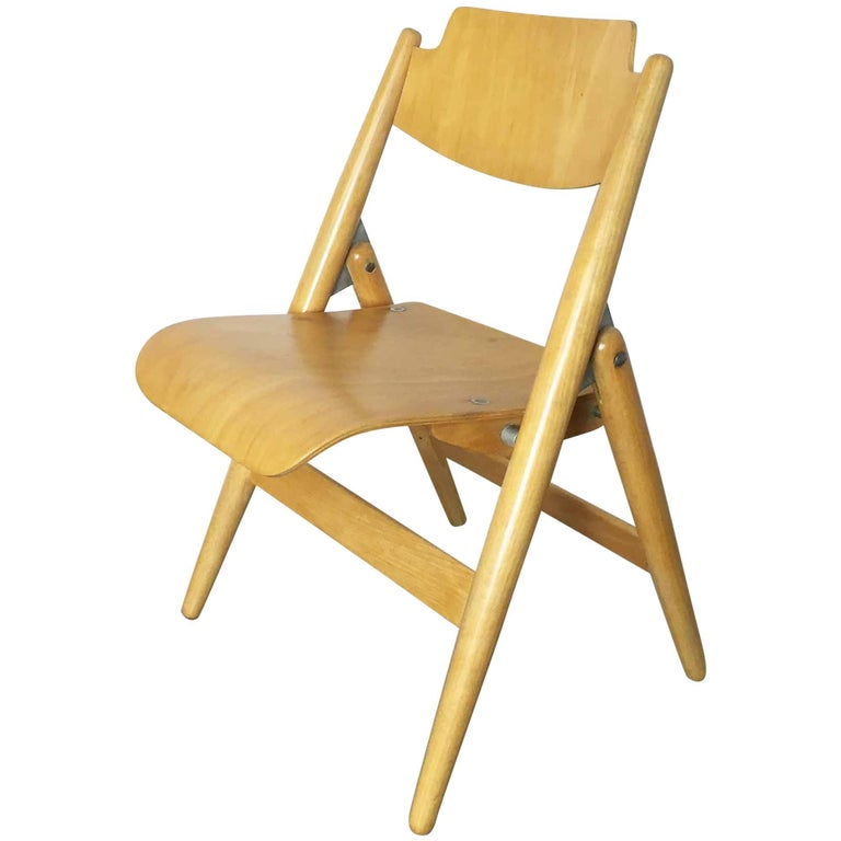 Wooden SE18 Children's Chair by Egon Eiermann for Wilde & Spieth, Germany 1950s For Sale