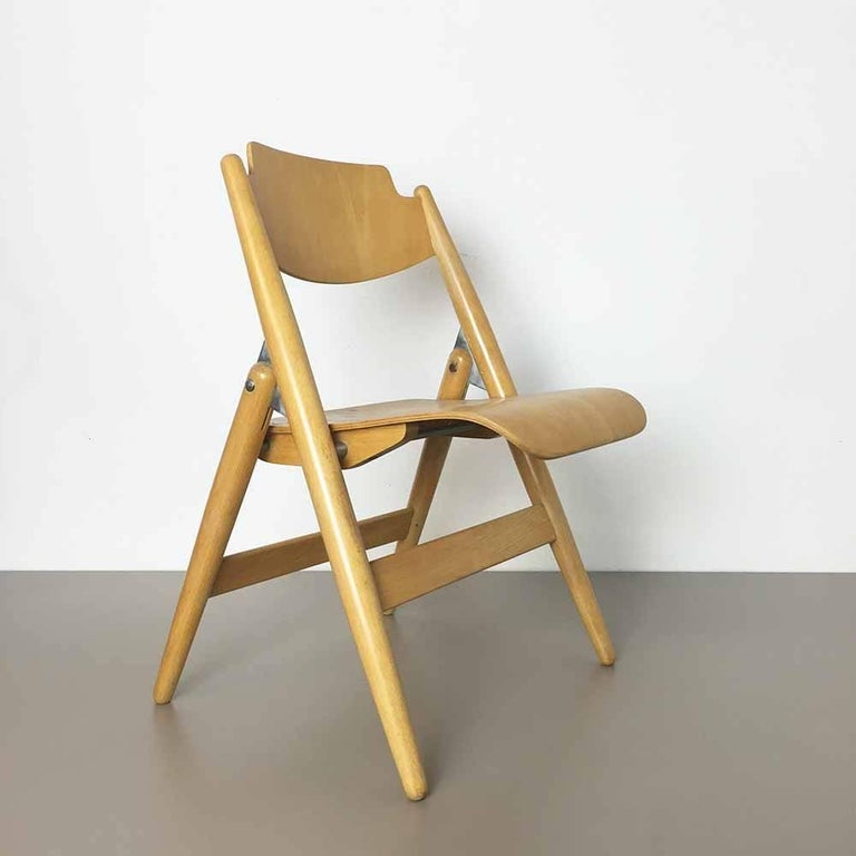 Mid-Century Modern Wooden SE18 Children's Chair by Egon Eiermann for Wilde & Spieth, Germany 1950s For Sale