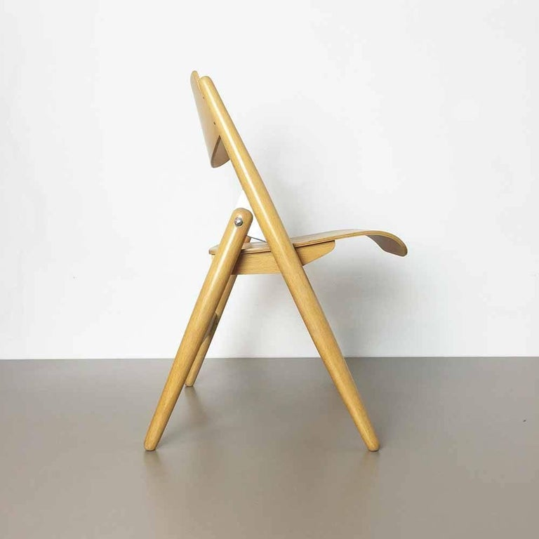 Wooden SE18 Children's Chair by Egon Eiermann for Wilde & Spieth, Germany 1950s In Good Condition For Sale In Kirchlengern, DE
