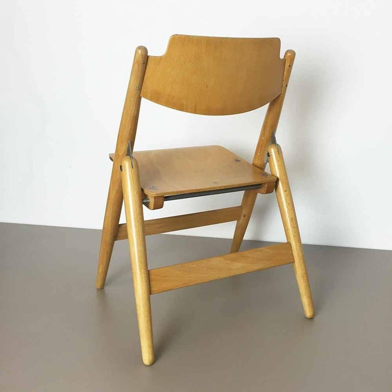 20th Century Wooden SE18 Children's Chair by Egon Eiermann for Wilde & Spieth, Germany 1950s For Sale