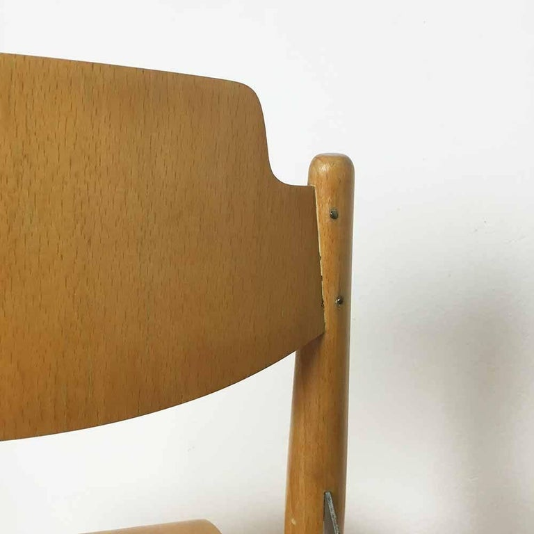 Wooden SE18 Children's Chair by Egon Eiermann for Wilde & Spieth, Germany 1950s For Sale 4