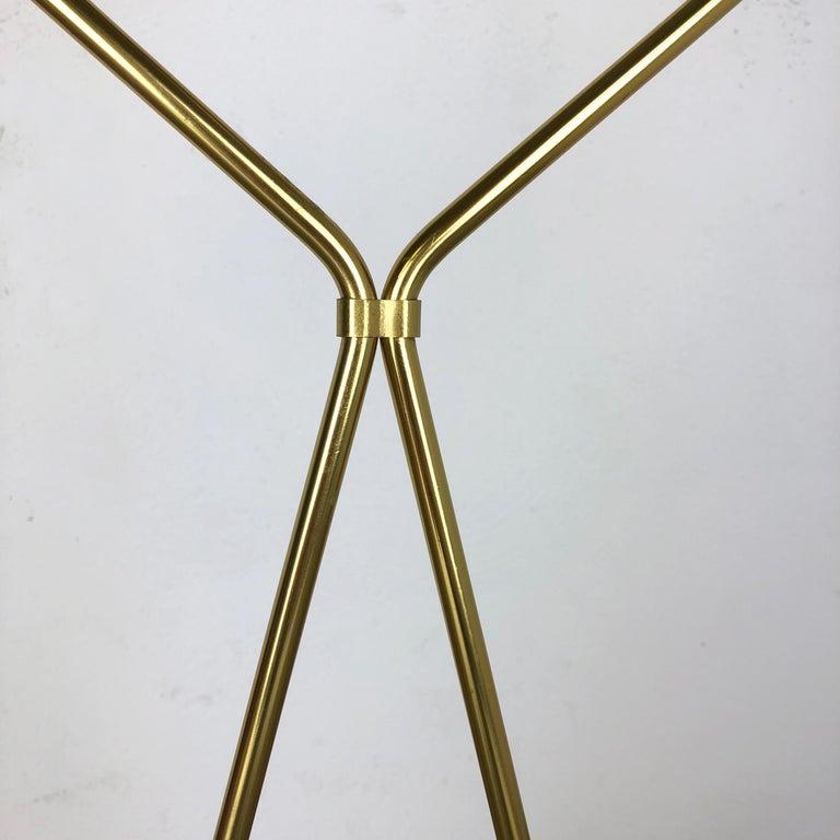 Mid-20th Century Original Midcentury Metal Brass Modernist Bauhaus Umbrella Stand, Germany, 1950s For Sale