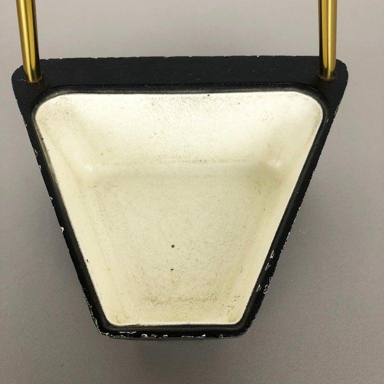 Original Midcentury Metal Brass Modernist Bauhaus Umbrella Stand, Germany, 1950s For Sale 2