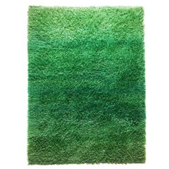 Original 1960s Green Rya Rug by Marianne Richter for Wahlbecks Ab, Sweden