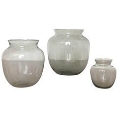 Vintage 1960er Jahre Set von Drei Turmalin Vasen von Wilhelm Wagenfeld für WMF