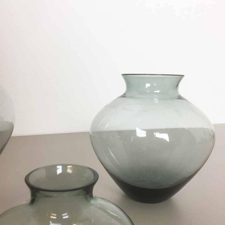 Vintage 1960er Jahre Set von Drei Herz Vasen Turmalingrün von Wilhelm Wagenfeld für WMF 5