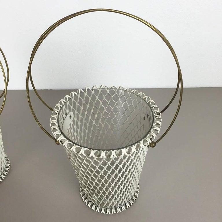 Original 1960s Modernist Set of Two Flower Pot Plant Stands Vases Made in France 3