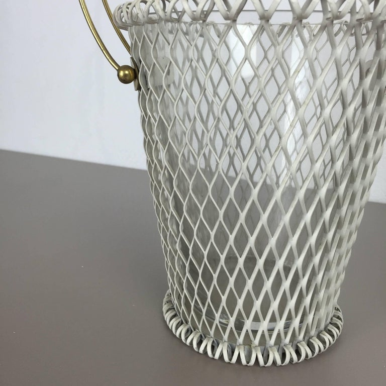 Original 1960s Modernist Set of Two Flower Pot Plant Stands Vases Made in France 6