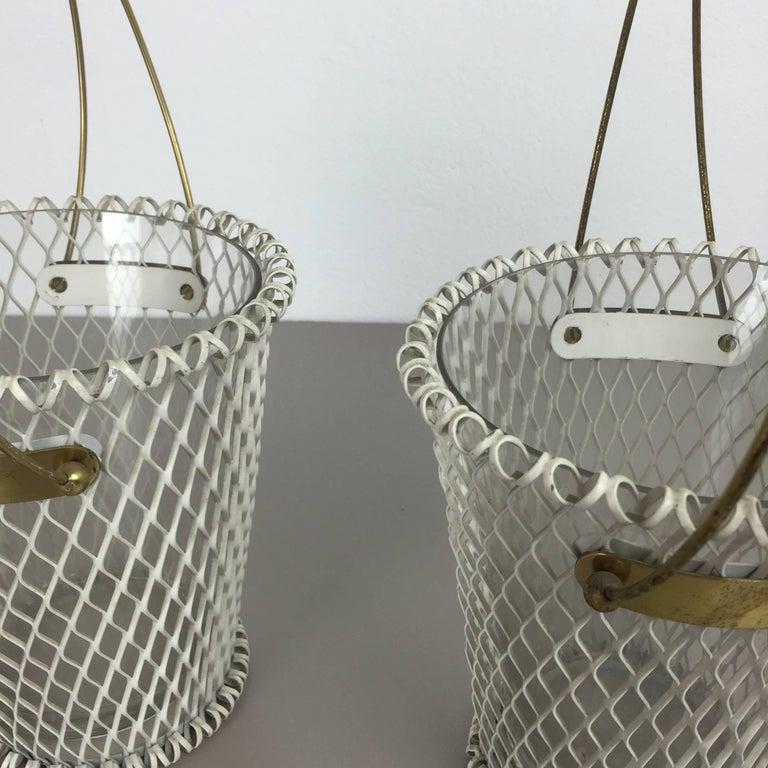 Original 1960s Modernist Set of Two Flower Pot Plant Stands Vases Made in France 9