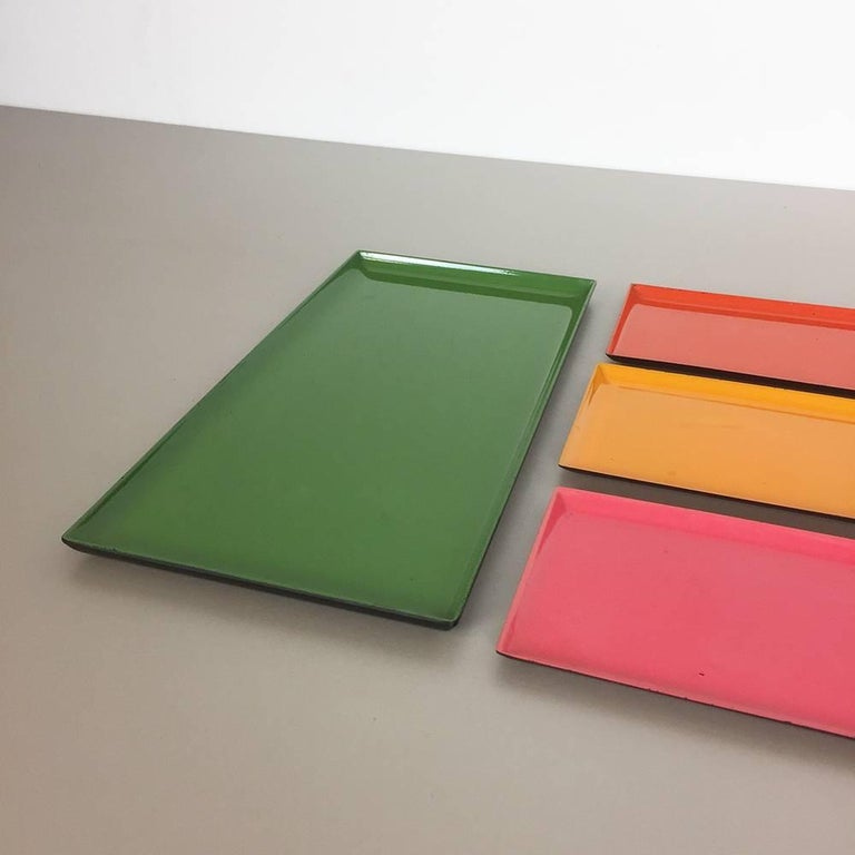 1960s Set of Eight Multi-Color Tray Elements Made in Sweden, Midcentury Modern 3