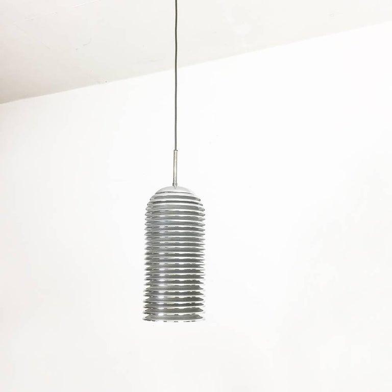 Original 1960s Chrome Hanging Light Design by Kazuo Motozawa for Staff, Germany For Sale 2
