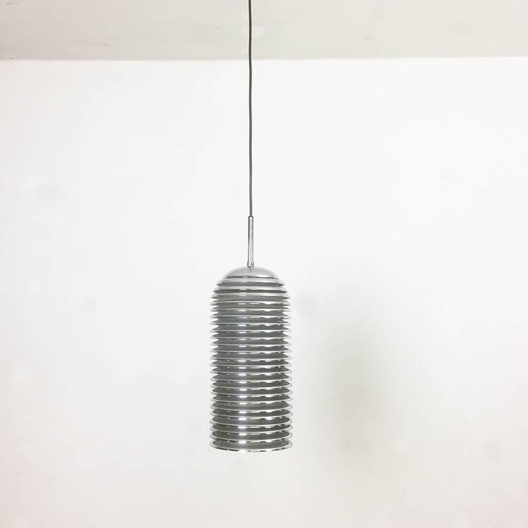 Original 1960s Chrome Hanging Light Design by Kazuo Motozawa for Staff, Germany For Sale 4