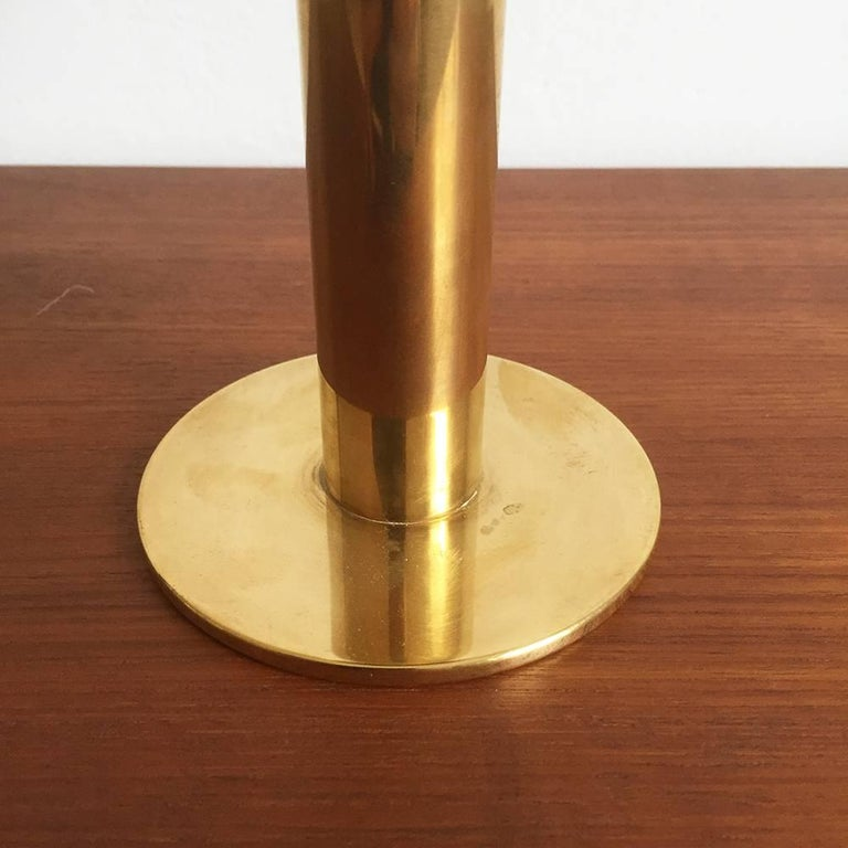20th Century 1960s Brass and Glass 'Claudia' Candleholder Made by Hans-Agne Jakobsson