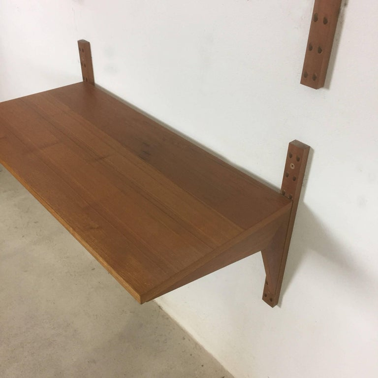 Teak Desk Royal System Wall Unit by Poul Cadovius for Cado, Denmark, 1960s In Good Condition For Sale In Kirchlengern, DE