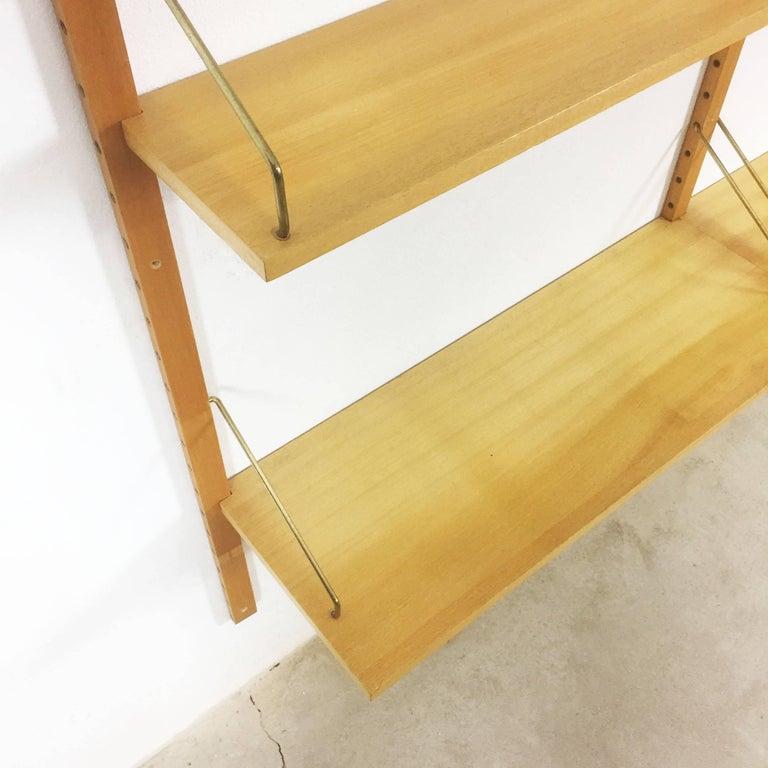 Mid-Century Modern Vintage 1960s Elmwood Royal System Wall Unit Poul Cadovius for Cado, Denmark For Sale