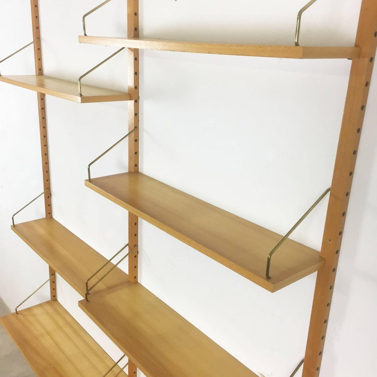 Vintage 1960s Elmwood Royal System Wall Unit Poul Cadovius for Cado, Denmark For Sale 3