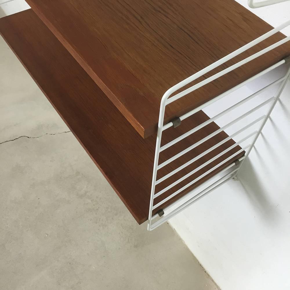 original 1960s string wall unit by nisse strinning for string design ab sweden for sale at 1stdibs. Black Bedroom Furniture Sets. Home Design Ideas