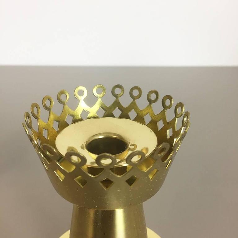 Metal Original 1960s Nos Brass Candleholder Made by Hans-Agne Jakobsson AB, Sweden For Sale