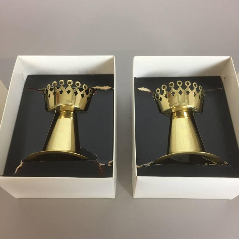 Original 1960s Nos Brass Candleholder Made by Hans-Agne Jakobsson AB, Sweden For Sale 2