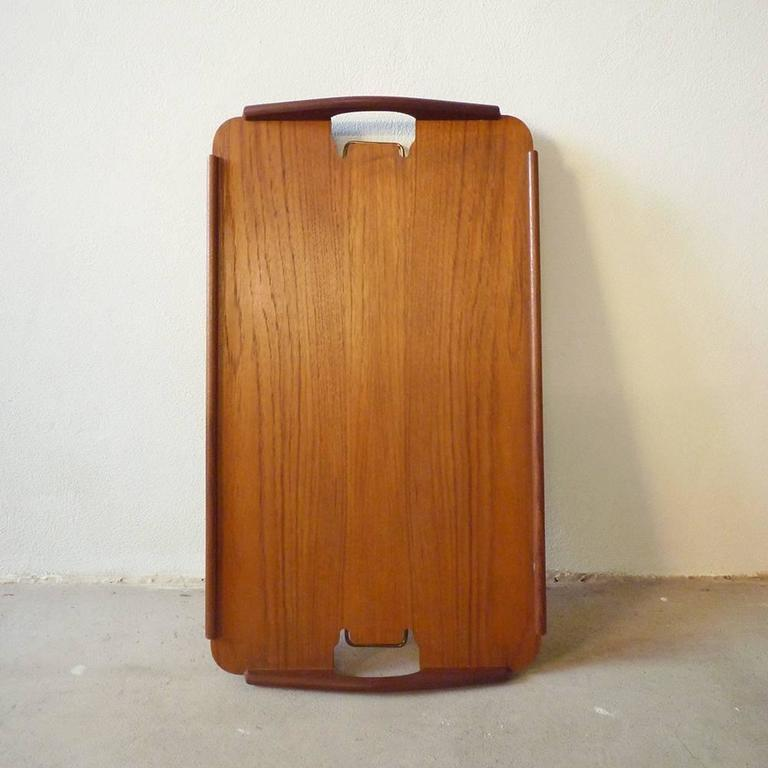 Vintage 1950s Aase Mobler Teak Side Table Tray Table Made in Norway For Sale at 1stdibs