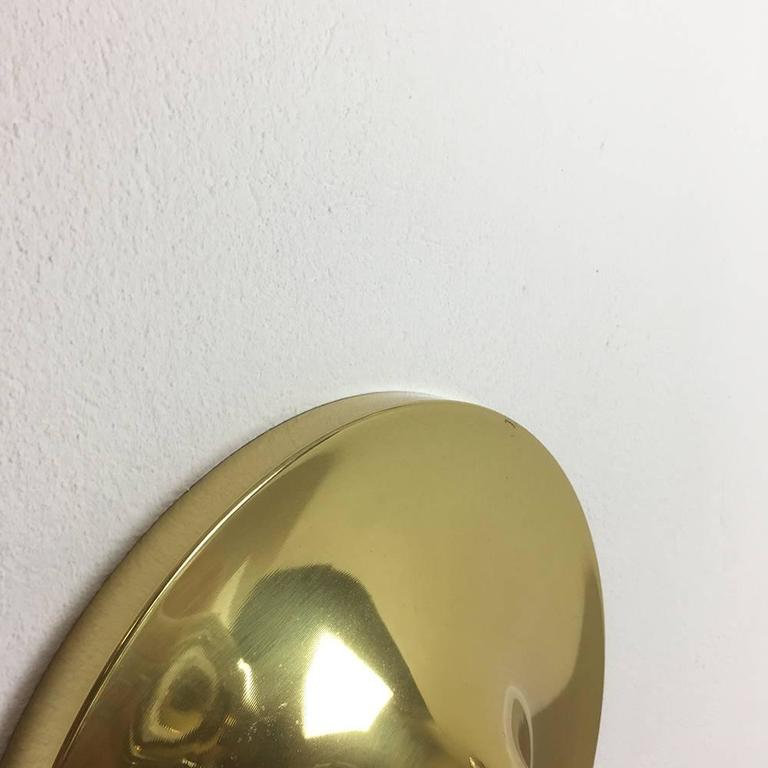 Modernist Brass 1960s German Disc Wall Light Made by Cosack, Germany For Sale at 1stdibs