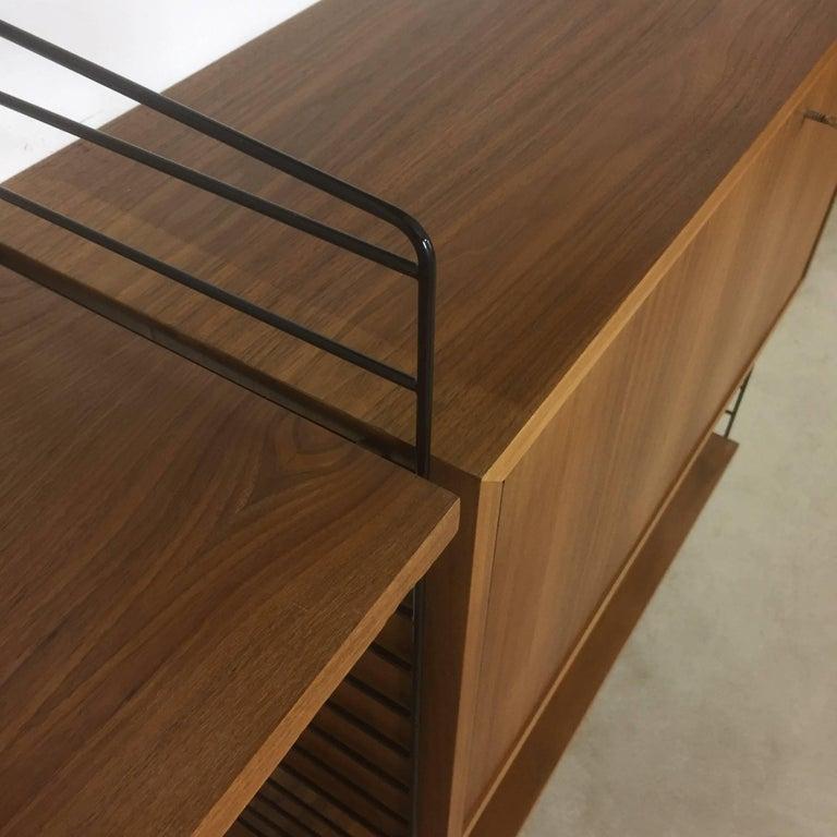 Original 1960s Modular String Wall Unit in Walnut by Nisse Strinning, Sweden 4