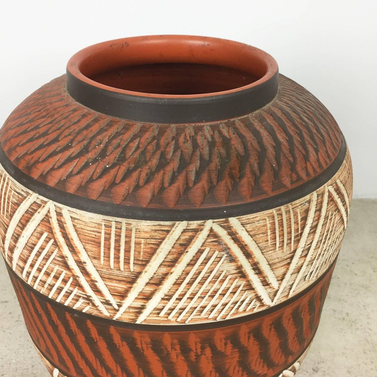 xxl 40cm vintage 1960s ceramic pottery floor vase by akru ceramic germany 1960s for sale at 1stdibs. Black Bedroom Furniture Sets. Home Design Ideas