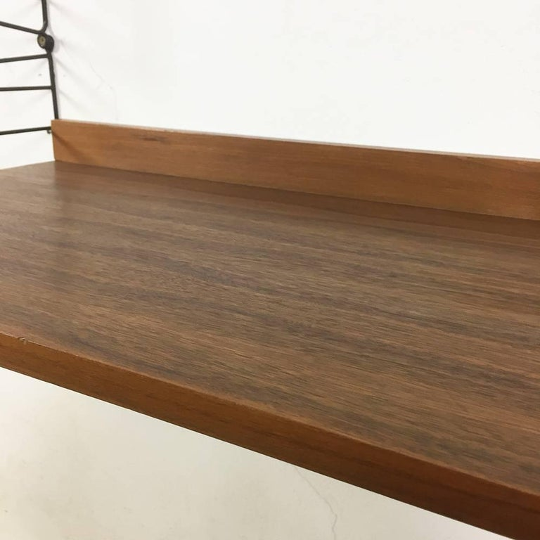 Swedish 1960s Walnut String Wall Unit And Desktop Nisse Strinning Made In Sweden For