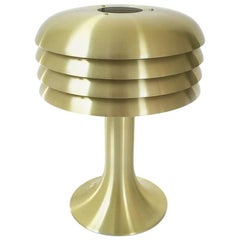 Original 1960s Brass Desktop Light by Hans-Agne Jakobsson, Markaryd, Sweden
