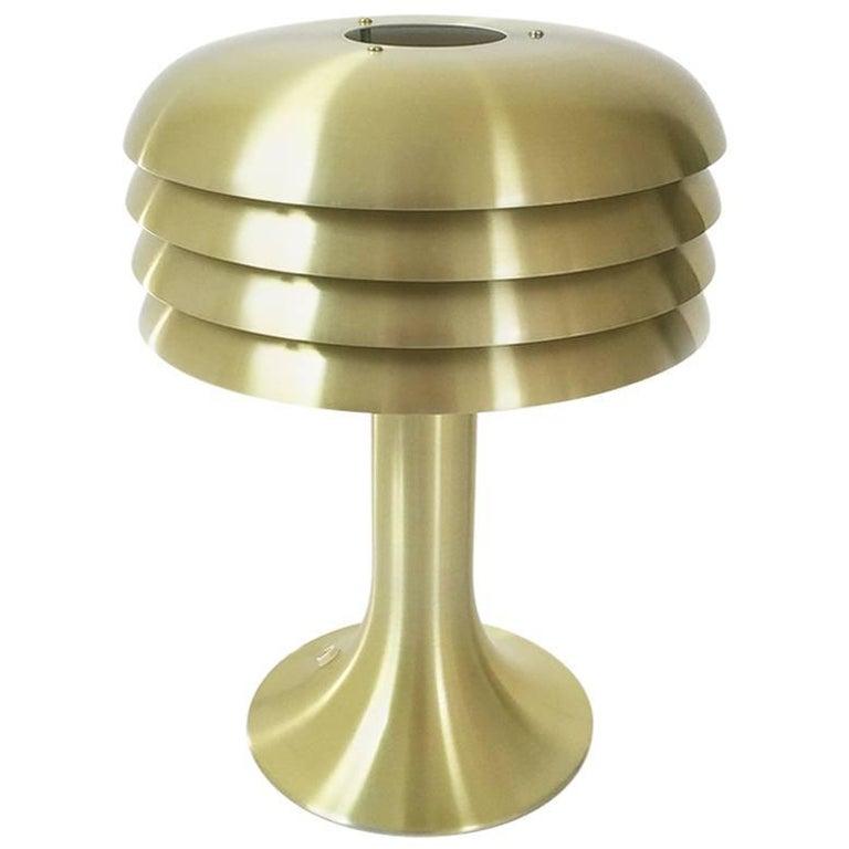 Original 1960s Brass Desktop Light by Hans-Agne Jakobsson, Markaryd, Sweden