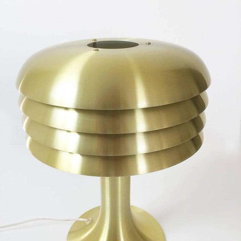 Swedish Original 1960s Brass Desktop Light by Hans-Agne Jakobsson, Markaryd, Sweden