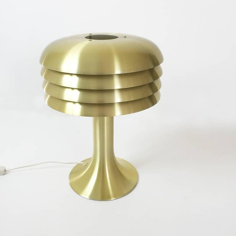 20th Century Original 1960s Brass Desktop Light by Hans-Agne Jakobsson, Markaryd, Sweden