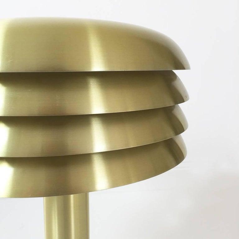 Aluminum Original 1960s Brass Desktop Light by Hans-Agne Jakobsson, Markaryd, Sweden