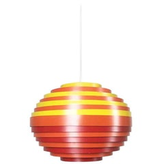 Extra Large Austrian Metal Hanging Lamp with Multicolored Shade from Vest, 1960s