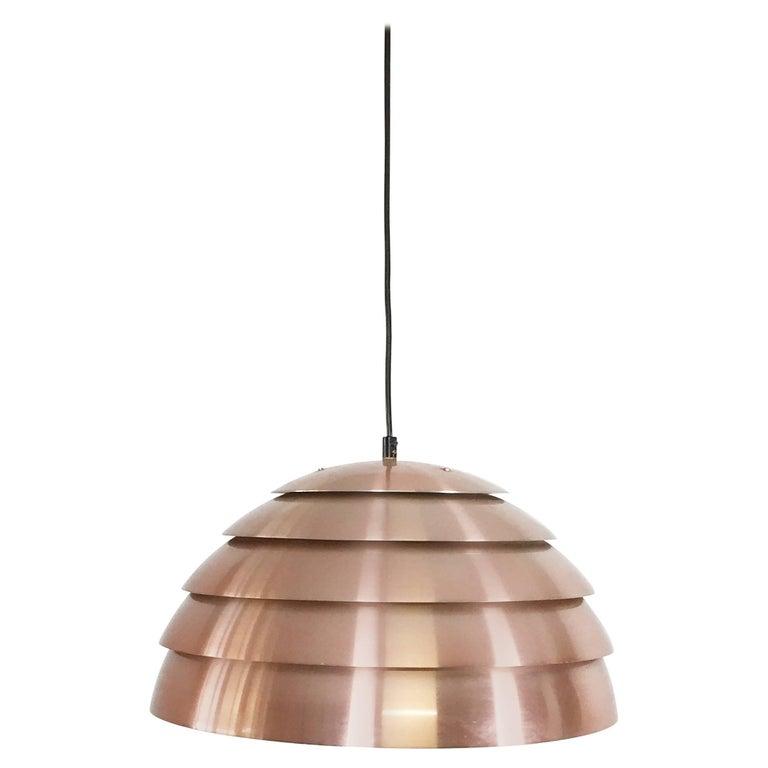 Modernist 1960s Swedish Copper Pendant Light by Hans-Agne Jakobsson, Sweden