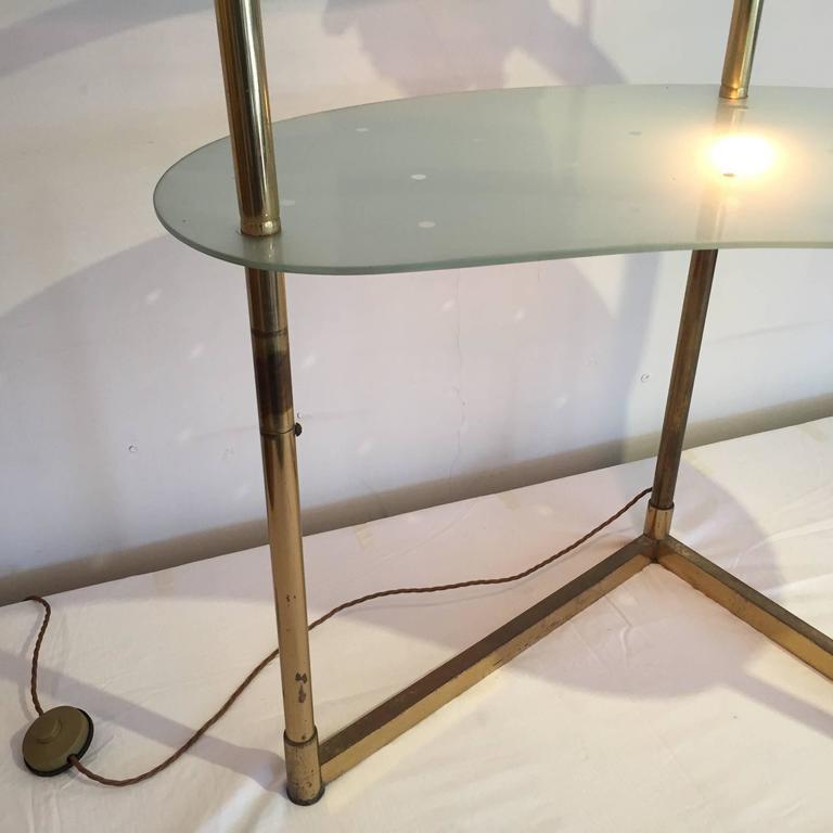 Vanity Lighting For Dressing Table : 1950s Italian Brass Dressing Table / Vanity with Light at 1stdibs