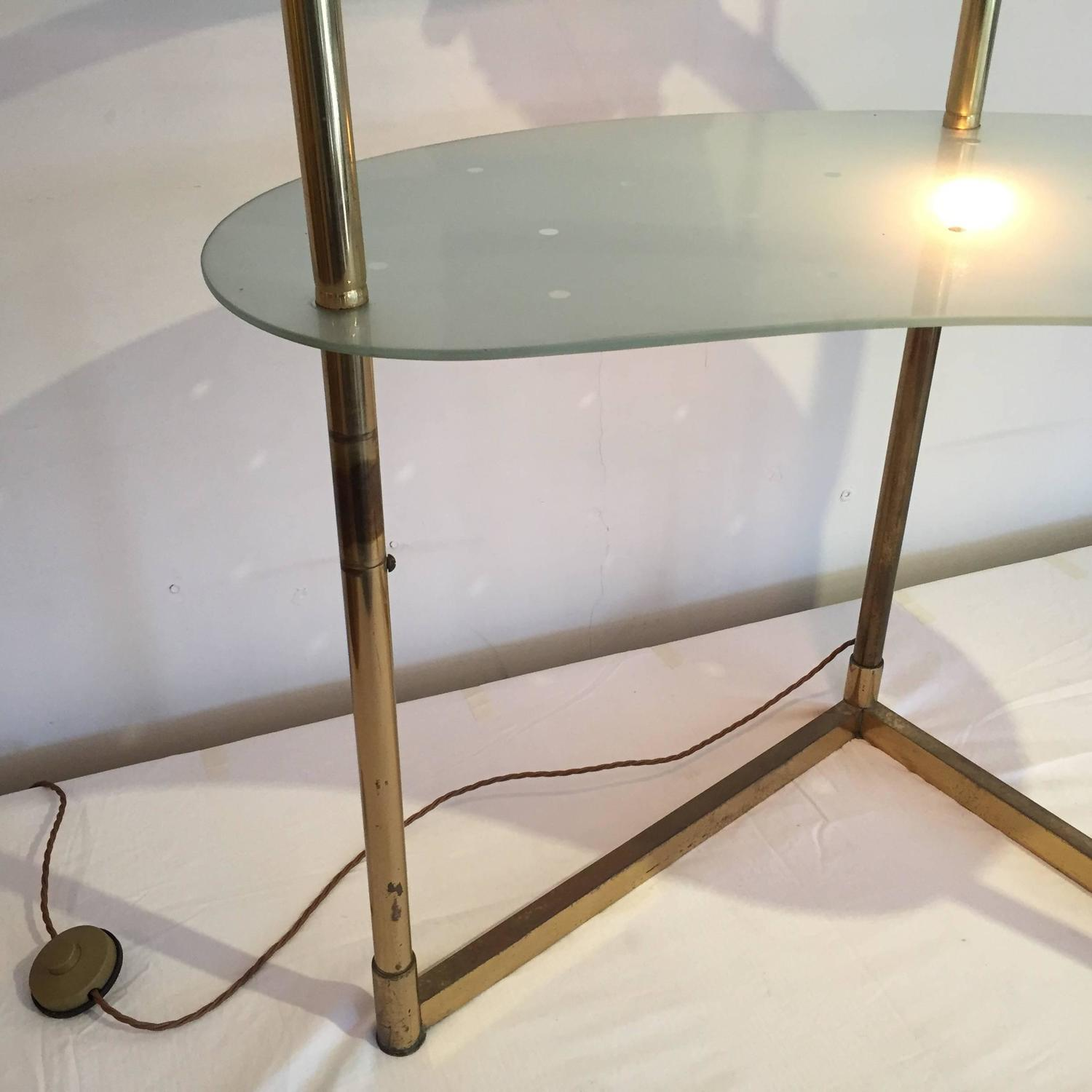 1950s italian brass dressing table vanity with light for for Vanity table with lights for sale