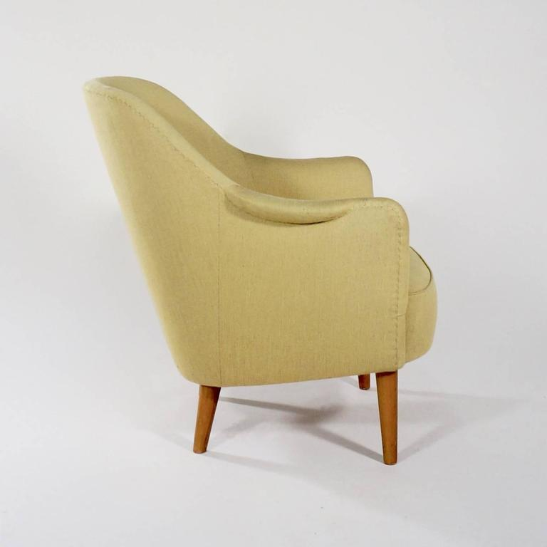 Scandinavian Modern Upholstered 'Sampsel' Chair by Carl Malmsten For Sale