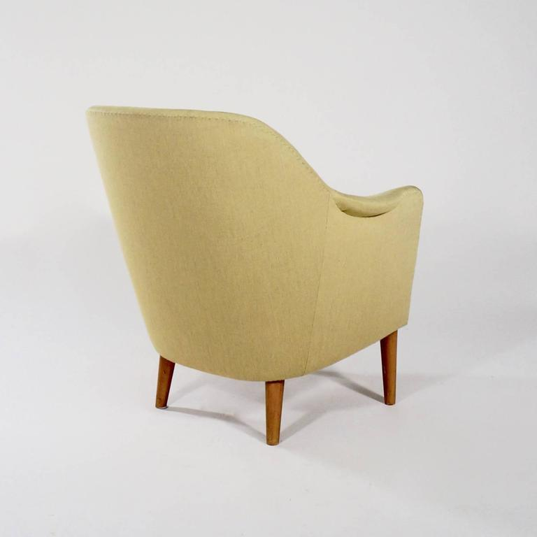 Swedish Upholstered 'Sampsel' Chair by Carl Malmsten For Sale
