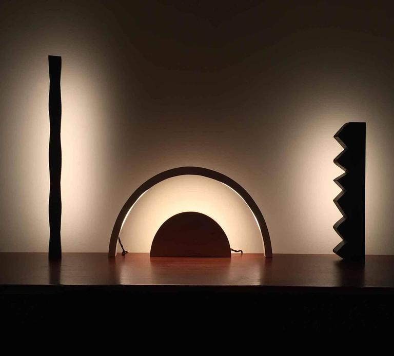 Chunky Zag Wenge LED Line Light Sculpture In New Condition For Sale In Brooklyn, NY