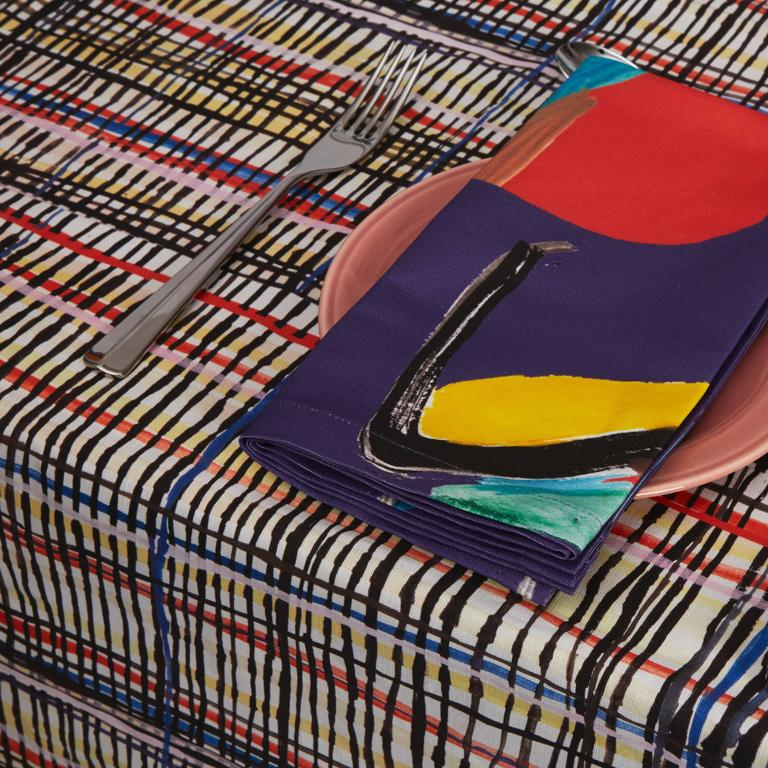 Other Crazy Plaid Tablecloth For Sale
