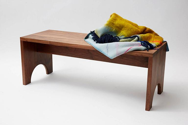 American Walnut Arc Bench For Sale