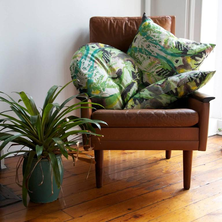 American Circle Fern Pillow For Sale