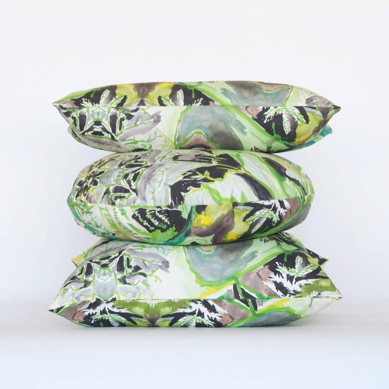 Canvas Circle Fern Pillow For Sale